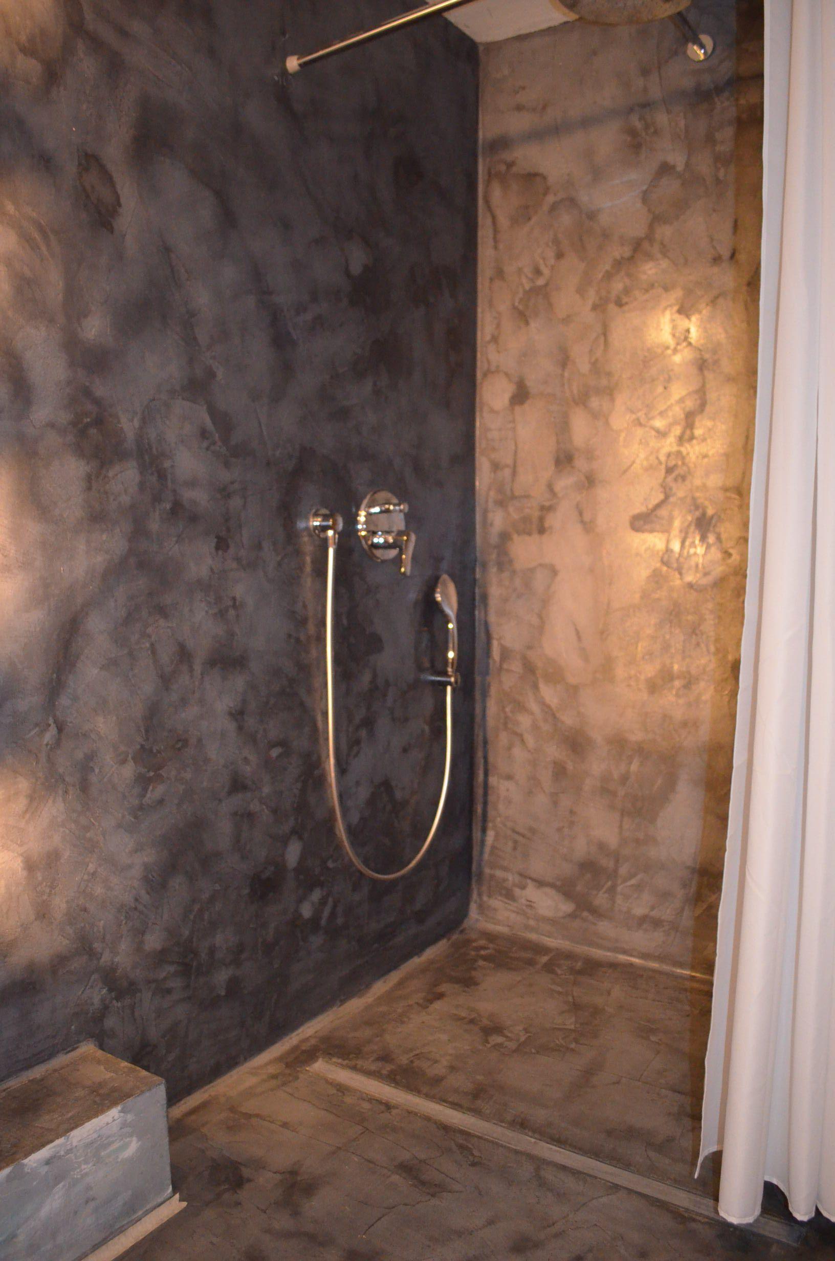 #Bad Und #Dusche Aus #Mikrozement # NANOTOP Von #STYLEBETON Im #Betonlook  #fugenlos | Badgestaltung Fugenlos In 2018 | Pinterest | Bathroom