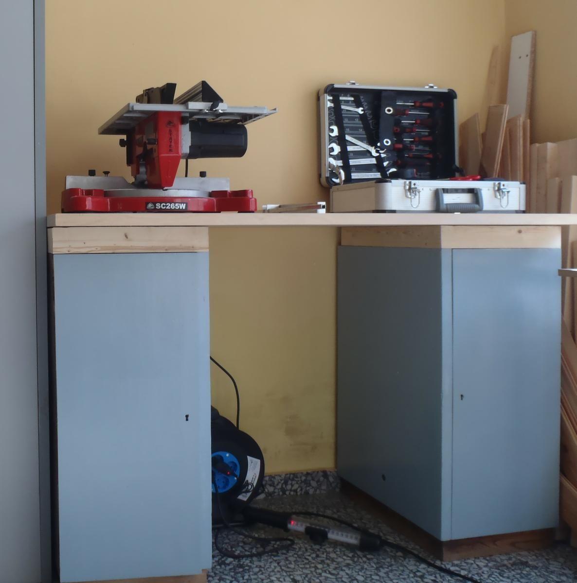 Mesa De Trabajo Con Muebles Reciclados Mesas De Trabajo Muebles  # Muebles Digitales