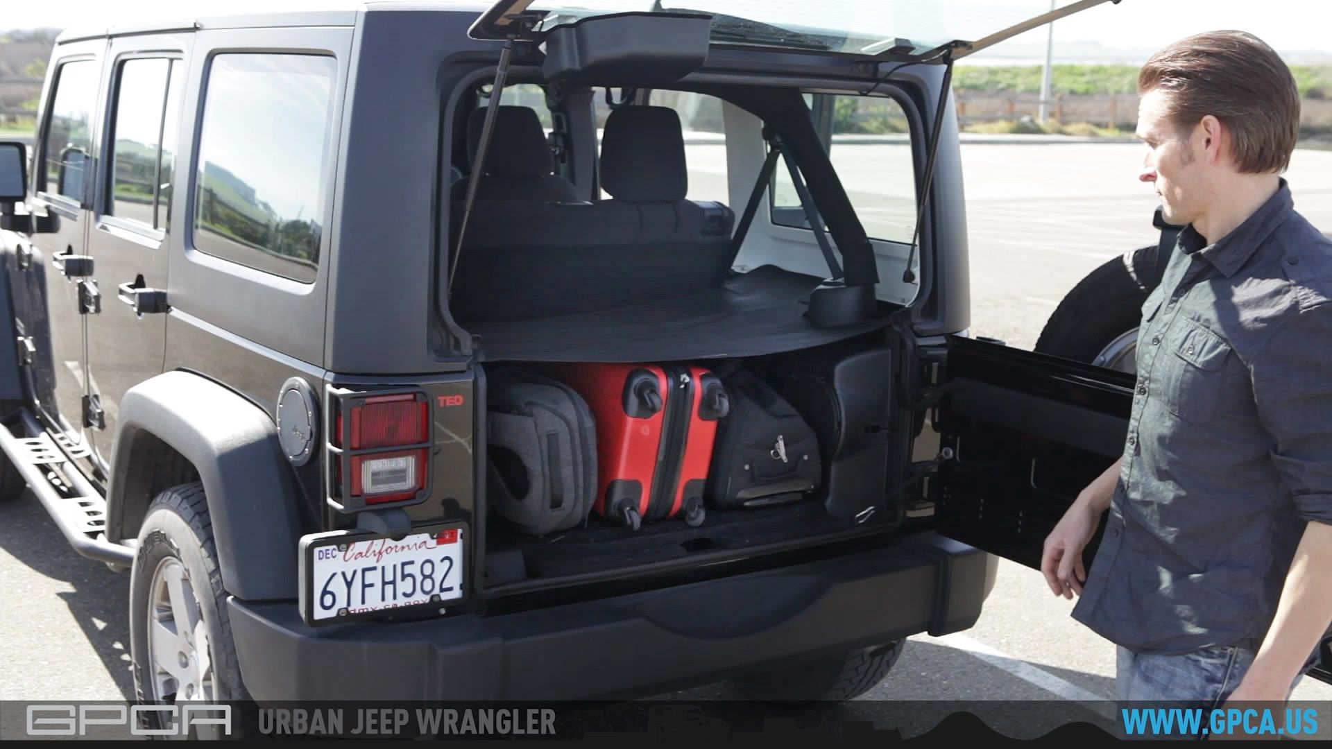 Gpca Jeep Wrangler Unlimited Trunk Cargo Tonneau Cover Jeep