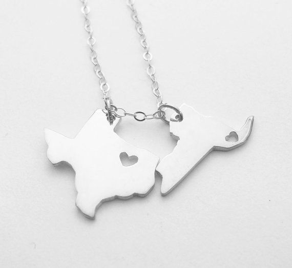Two states love necklacesilver two states necklacebest friendship two states love necklacesilver two states necklacebest friendship state necklacesmall aloadofball Gallery