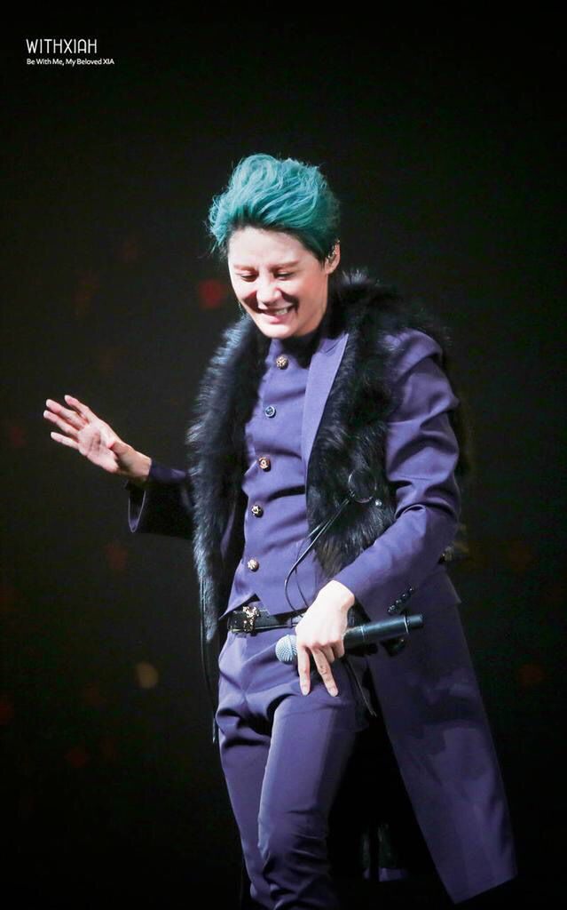Love the Purple and Smile on Junsu Baby ❤️ JYJ Hearts