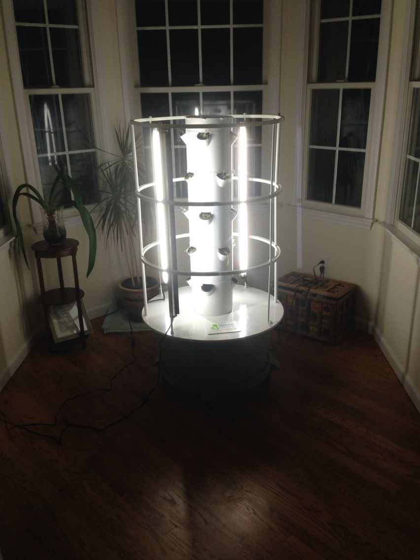 moving my tower garden indoor for the winter to grow leafy greens