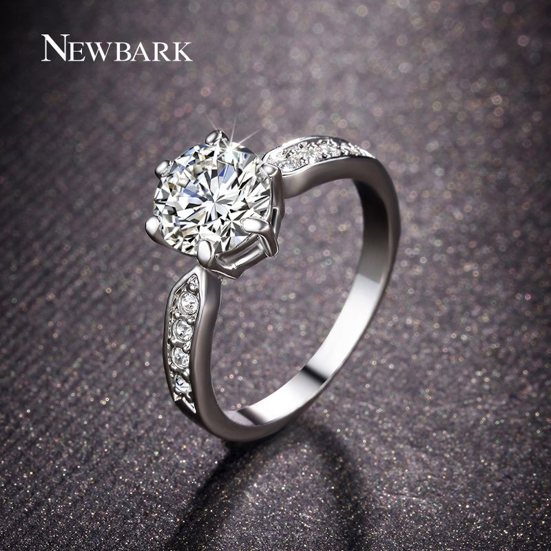 Find More Rings Information about NEWBARK Brand Engagement Rings Prong Setting…