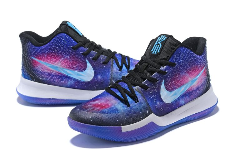 new arrival 9e04d 7c4e0 Custom Galaxy Nike Kyrie 3 PE Men s Basketball Shoes