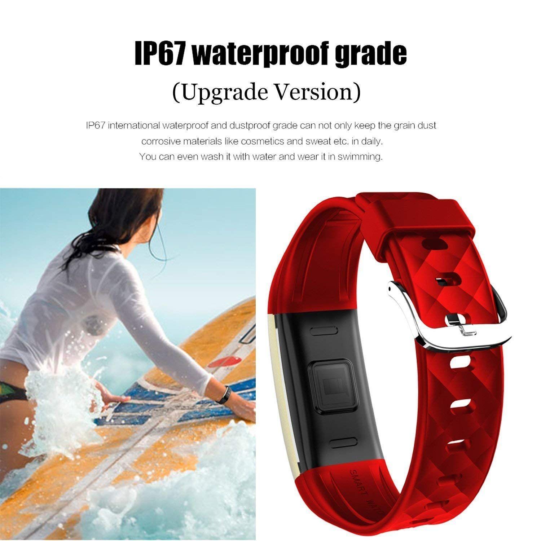 Fitness tracker sendcool waterproof smart wristband for