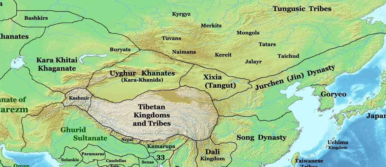 Khara Khitai (Kara Kitai) - Mongolian tribe Historical Maps - best of world history maps thomas lessman