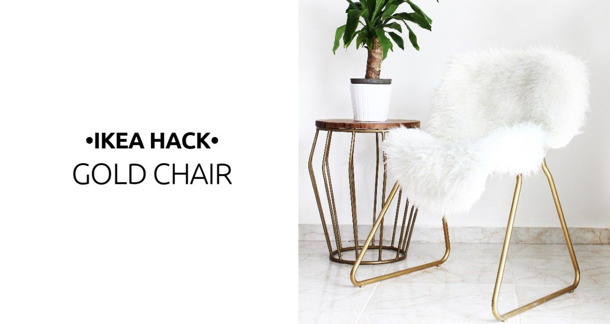 Ikea Hack: Turn A Boring Chair Into A Glam Piece