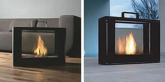 Portable fireplace.