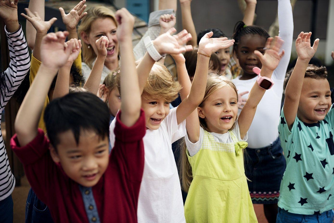Download premium image of Happy kids at elementary school