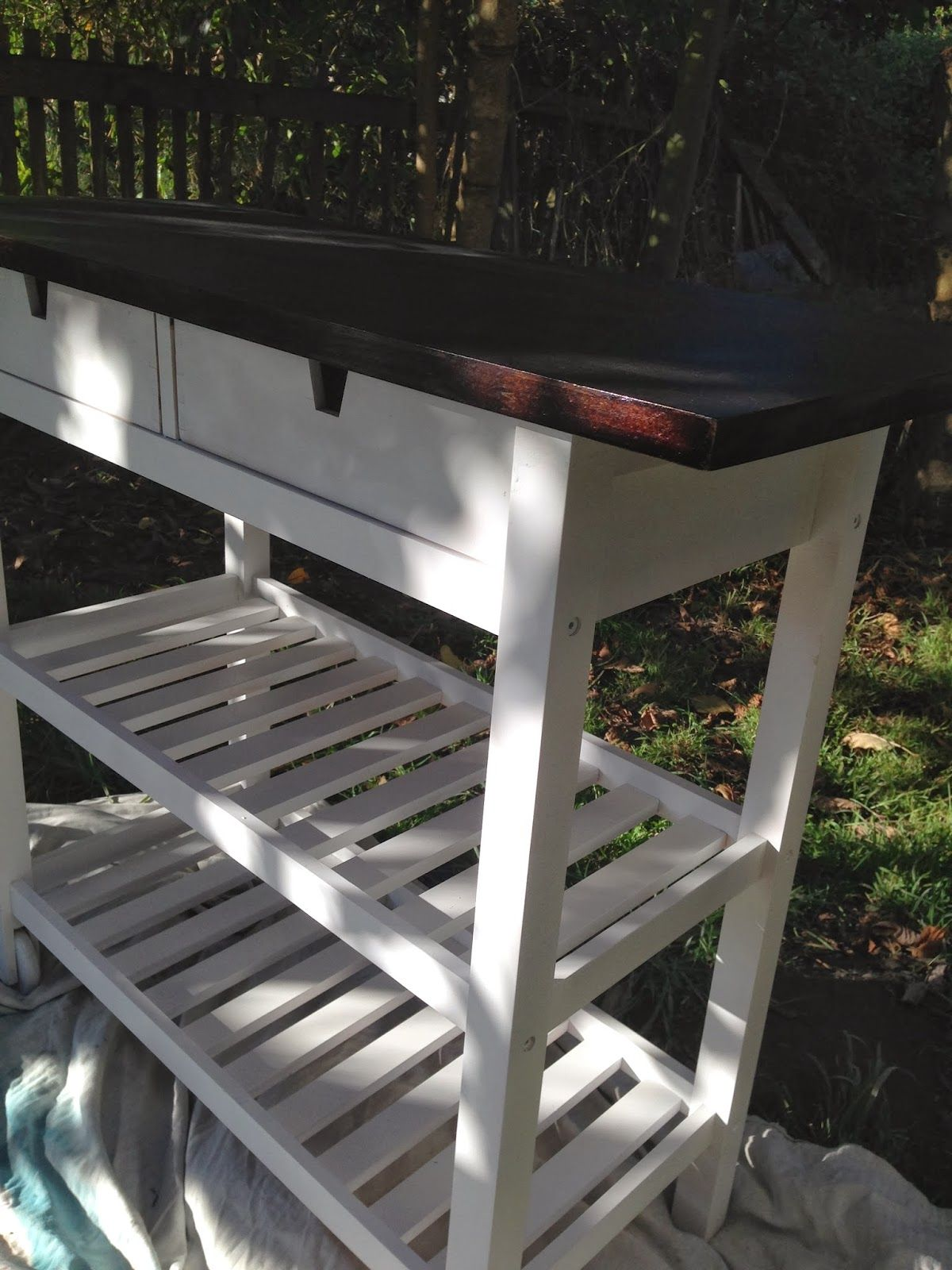 Ikea kitchen cart painted - Directions For Painting F Rh Ja Kitchen Cart