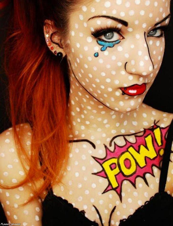 Unique Halloween Costume Ideas | Come creare il trucco da ragazza fumetto  sc 1 st  Pinterest & Unique Halloween Costume Ideas | Come creare il trucco da ragazza ...