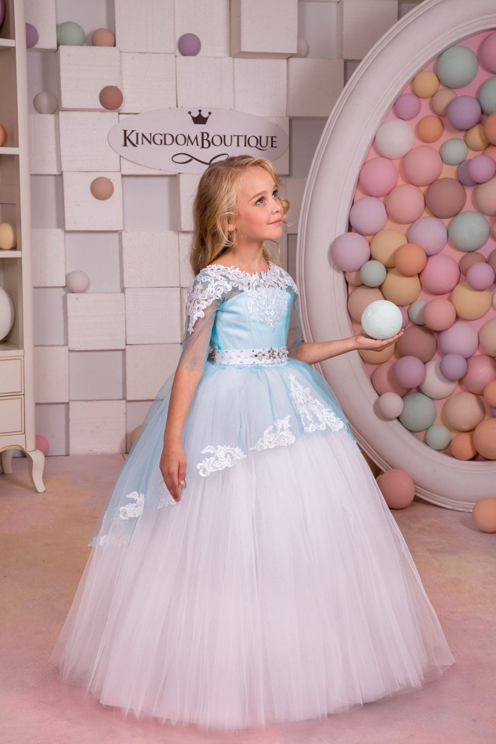 White and blue flower girl dress wedding party holiday birthday white and blue flower girl dress wedding party holiday birthday bridesmaid flower girl white and blue tulle dress 14 1055 izmirmasajfo