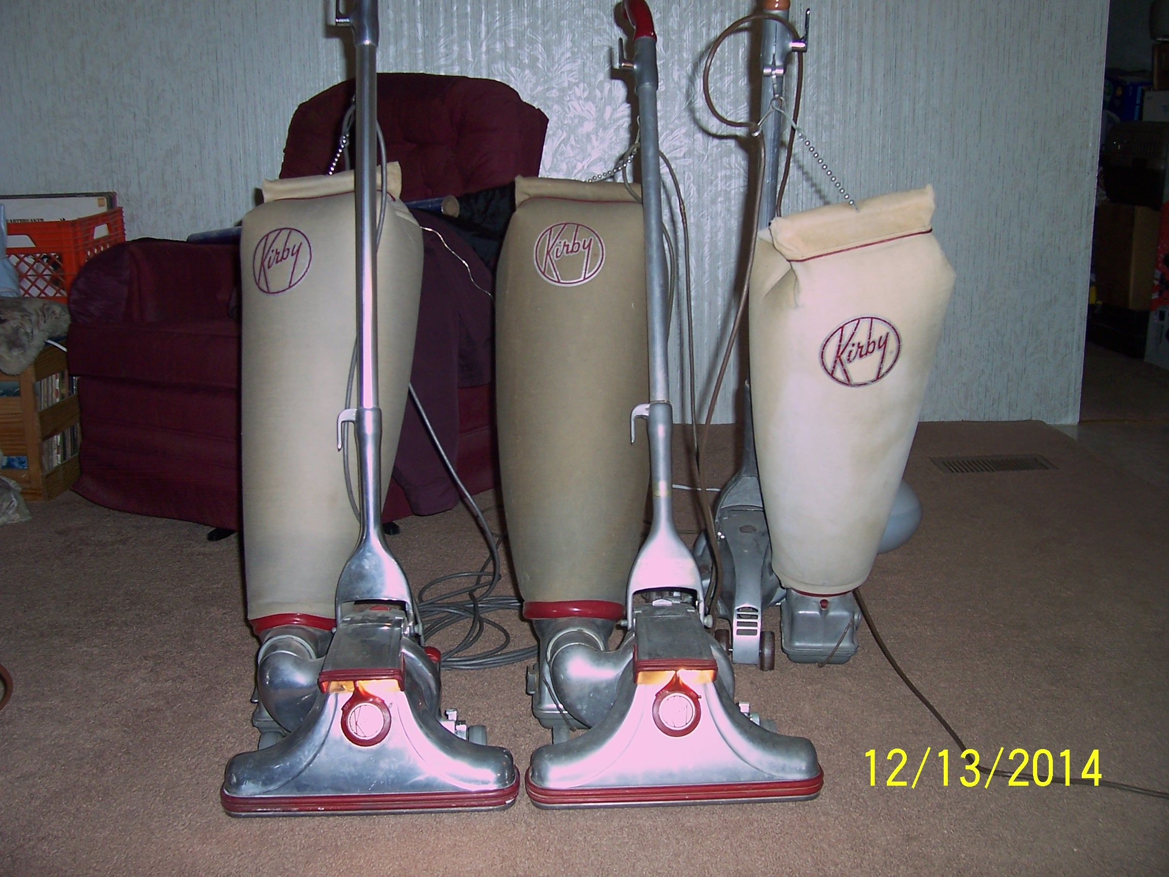 Three 500 Series Kirbys From The Past Still Working Like They Did New Kirby Vacuum Vintage Appliances Vintage Vacuum Cleaner