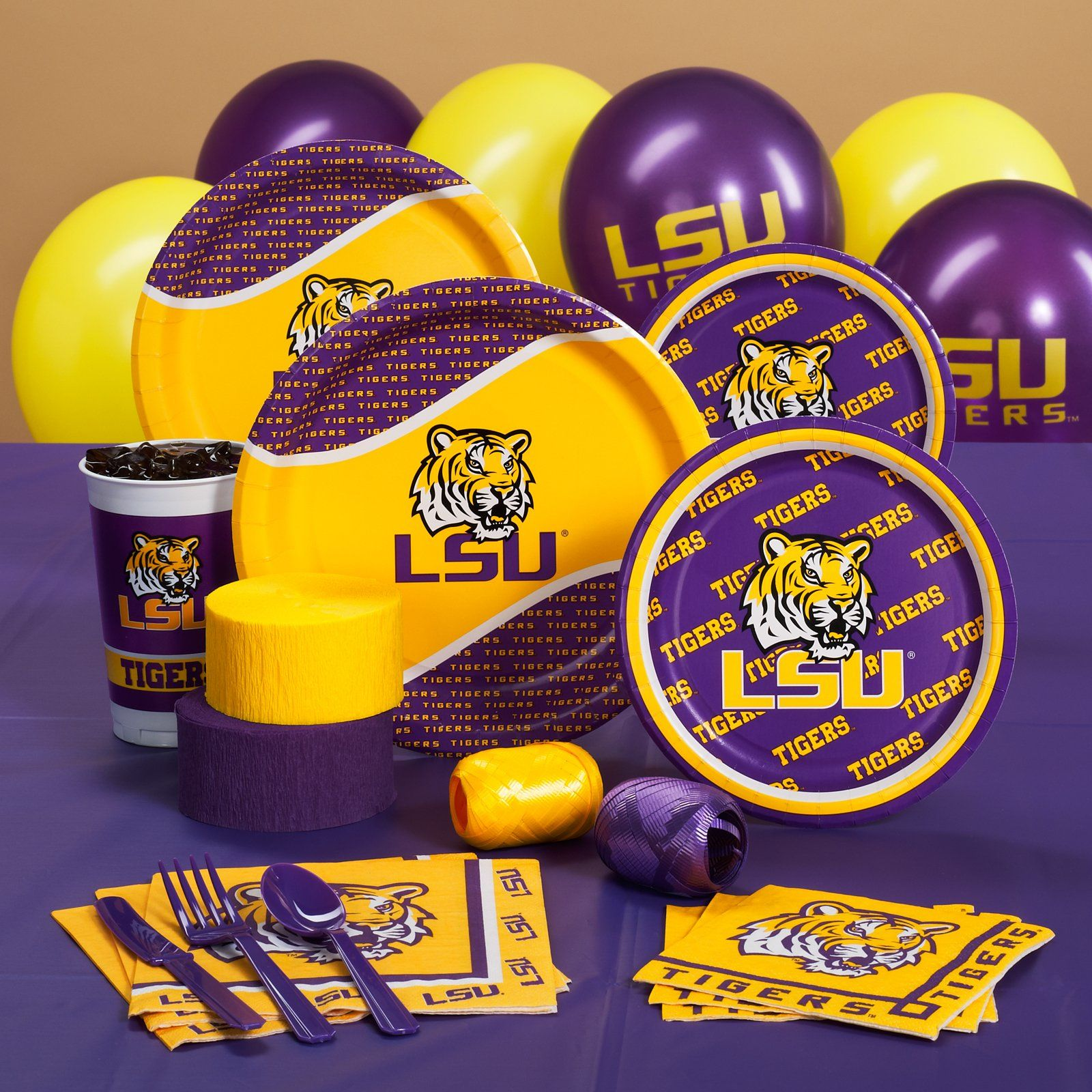 Louisiana State Tigers Lsu College Party Supplies Toni Scott