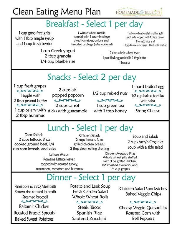 Clean eating menu planner also day meal plan delicious dinners rh pinterest