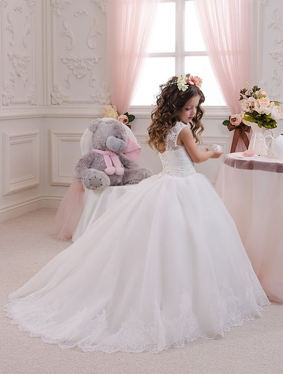 4dbb899927e18 White Ivory Flower Girl Dress - Wedding Party Holiday Birthday Bridesmaid Flower  Girl White Ivory Tulle Dress by Butterflydressua on Etsy