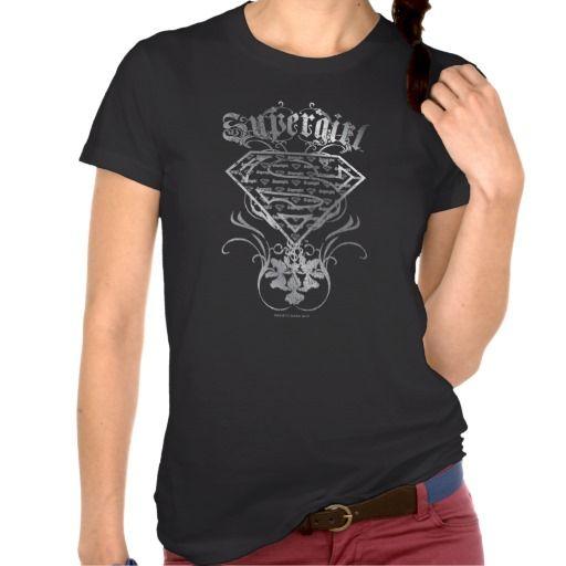 Supergirl Fancy Silver Logo Tshirt