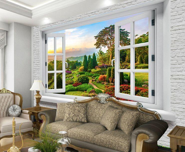 Details zu 3D Manor Fenster Fototapeten Wandbild Fototapete Bild