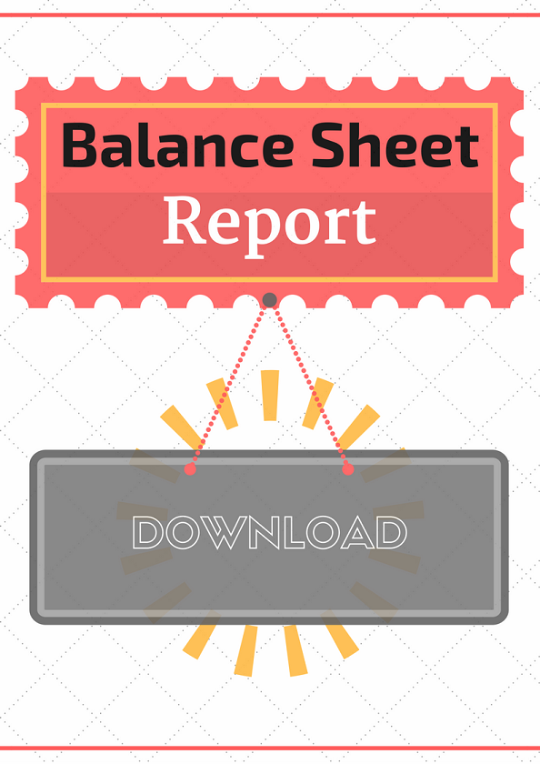 Free Bookkeeping Forms And Accounting Templates  Balance Sheet