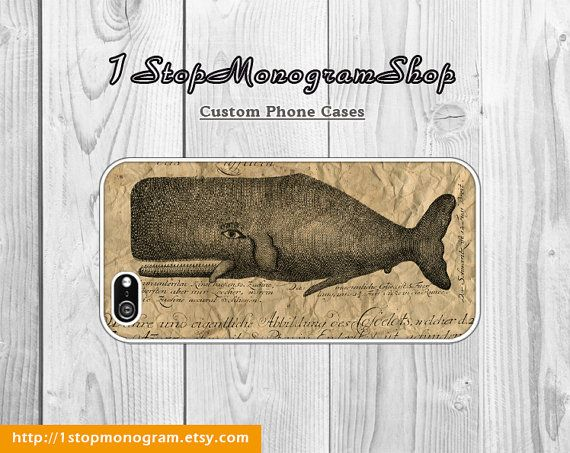 Vintage Whale Cell Phone Case