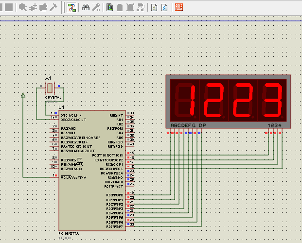 7 Segment Display Interfacing with PIC Microcontroller (PIC16F877A