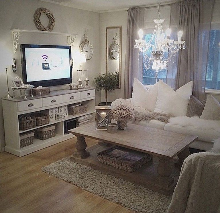78 Tiny Apartment Decorating Ideas On A Budget Apartment Apartmentdecor Apartmen Romantic Living Room Shabby Chic Living Room Shabby Chic Decor Living Room