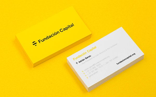 Fundacin Capital By Anagrama Via Behance Carte De Visite Menuiserie Cartes