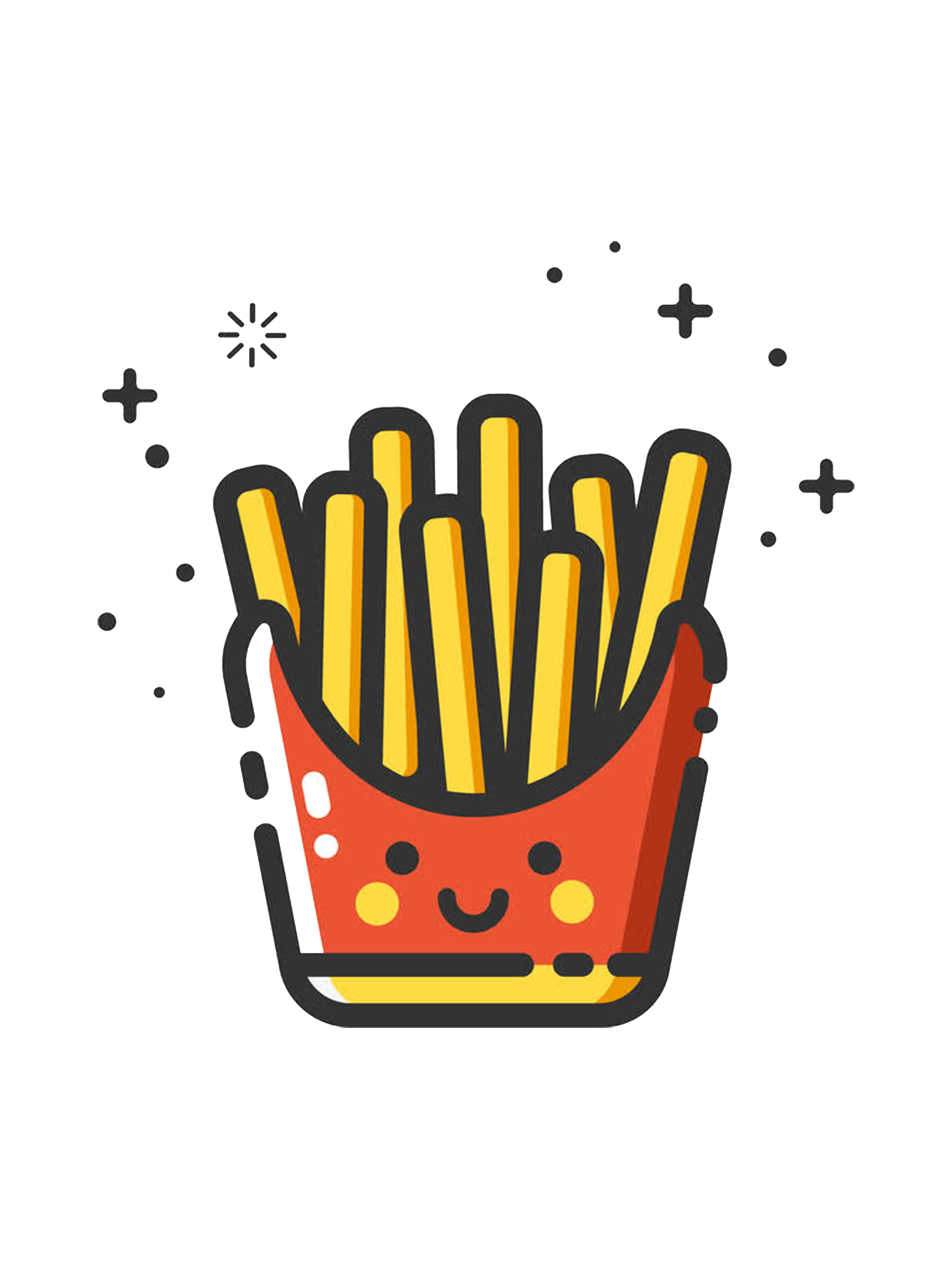 French Fries Hardcover Notebook Iphone Case Skin Background Patterns