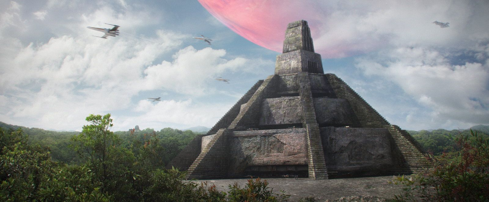 Great Temple Of Yavin 4 Saby Menyhei Star Wars Concept Art Star Wars Photo