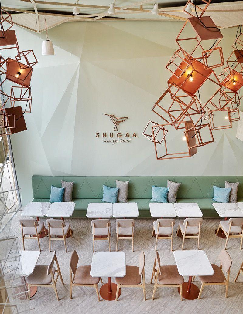 Sugar crystals inspired the interior design of this new dessert bar ...