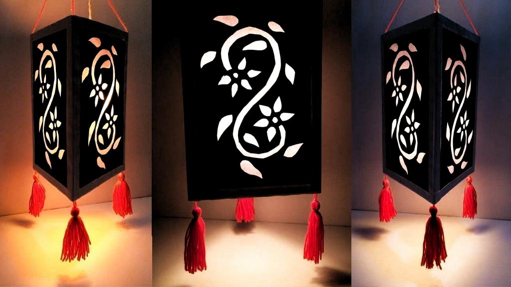 DIY Diwali Dekoration Ideen zu Hause einfach / Home Dekoration Idee / Lampenschirm / ... #diw...