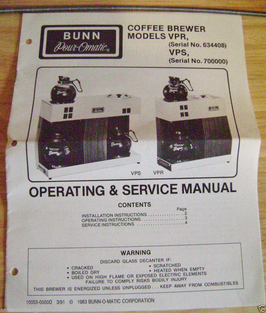 Bunn O Matic Wiring Diagram Schematic Diagrams Manual U2022 Coffee Makers Model Numbers