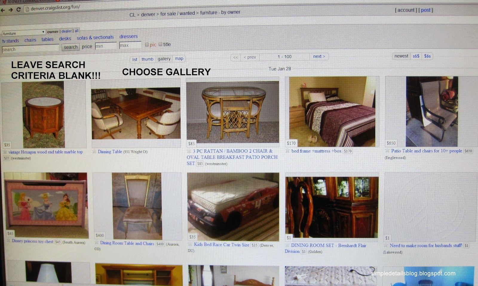 Craigslist Denver Co Furniture By Owner - patio furniture