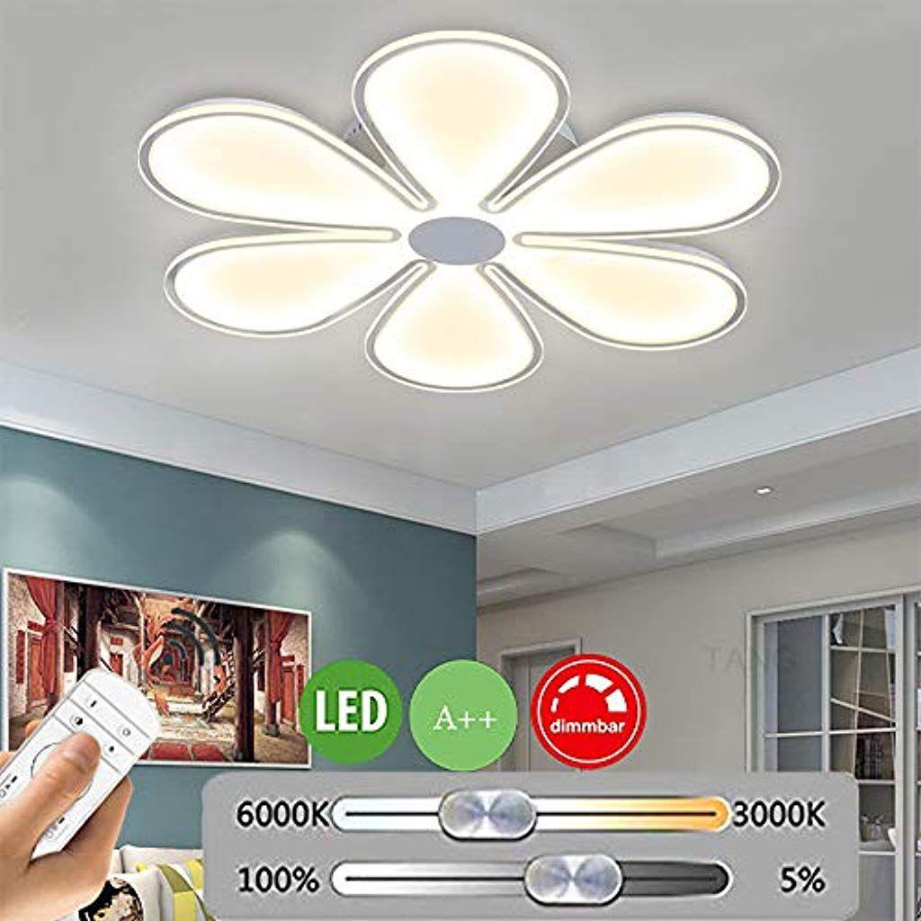 Modern Deckenleuchte Led Dimmbar Wohnzimmer Lampe Ultradunn Blume