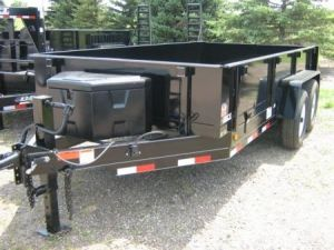 Dct Black Steel Ez Dump Power Up Down Trailer With Images