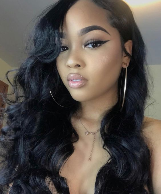 straight hair ends bumped | Body wave hair Wig hairstyles ...
