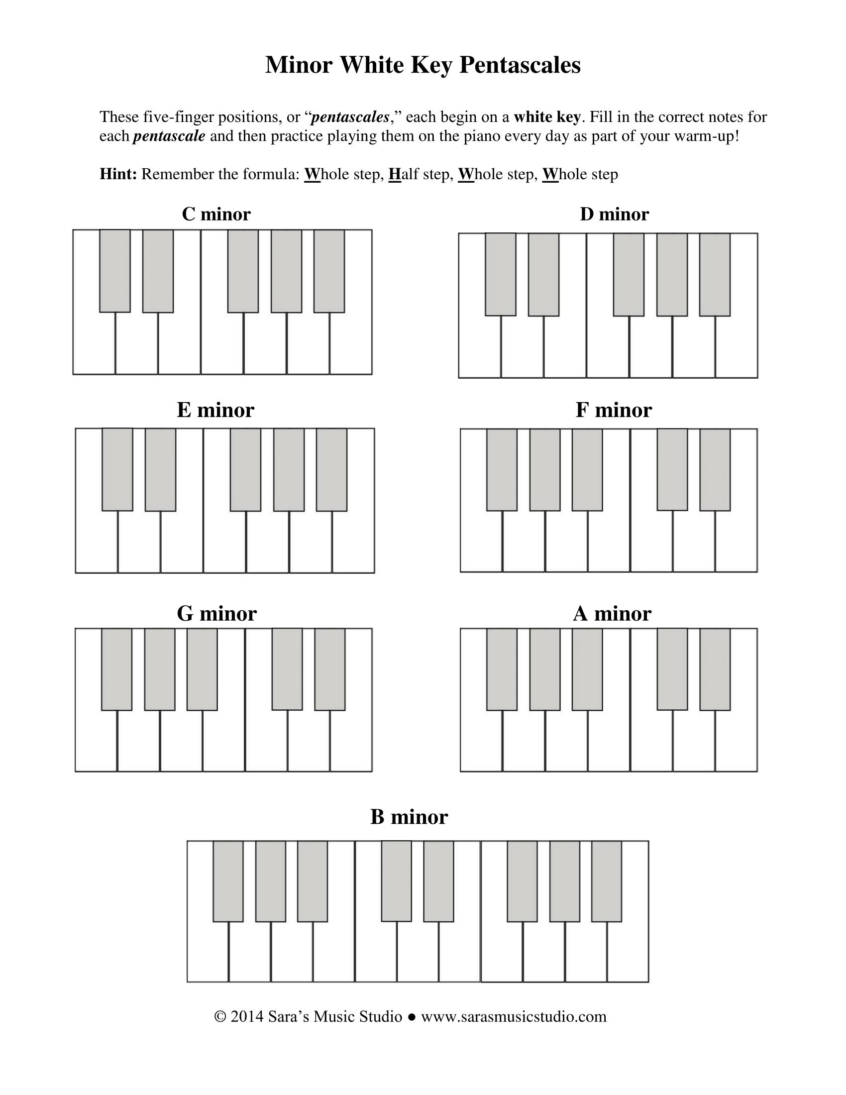 Minorpentascalesworksheetsms 1