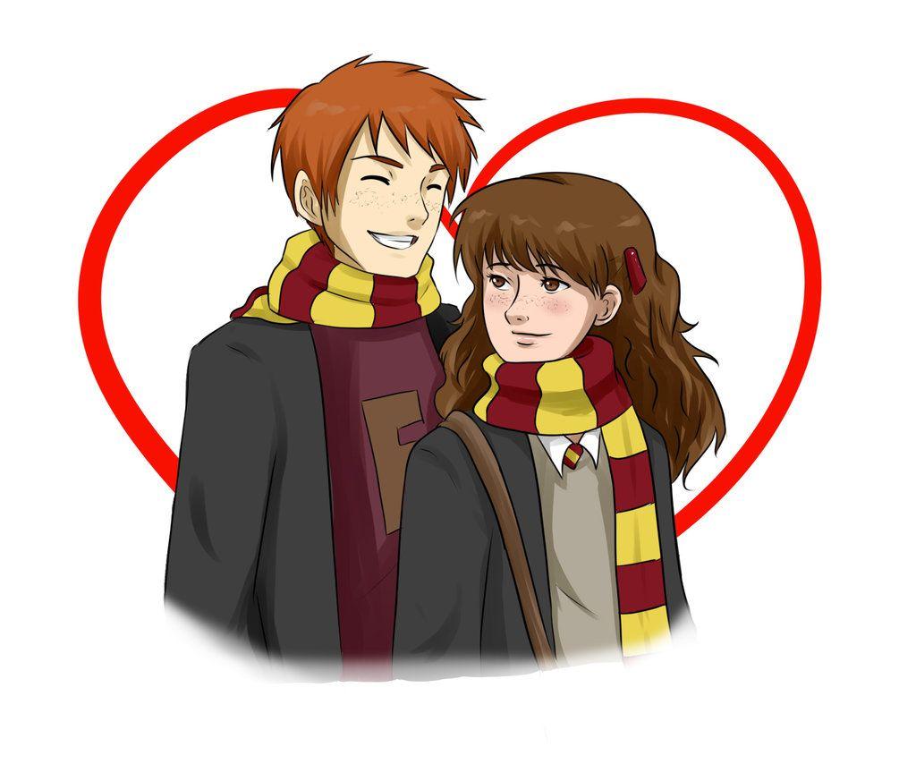Fred Weasley And Hermione Granger Fan Art fremione