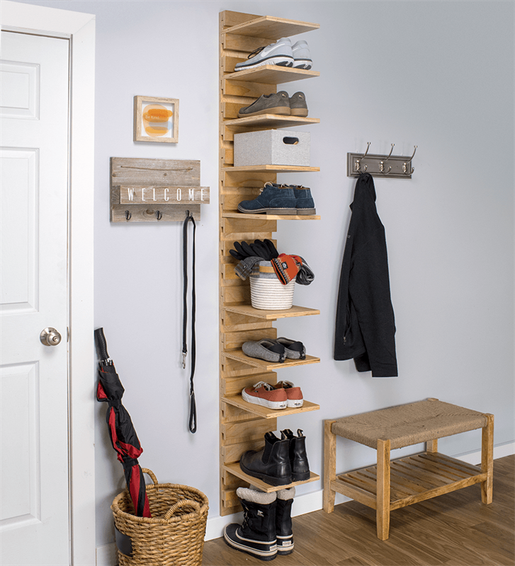 This Shoe Organizer Is Compact Enough To Fit Into A Closet Simple
