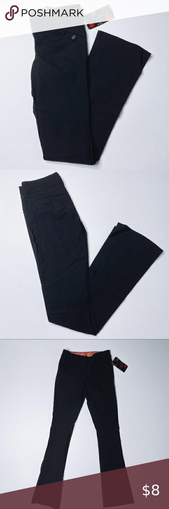 Sensational Collection Black Bootcut Dress Pant Dress Pant Pants For Women Pants [ 1740 x 580 Pixel ]