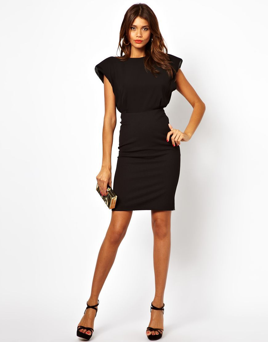 Us Asos Com Aq Aq Reno Dress With Shoulder Pad And Open Back Jamie Gunns 3273010 Dresses Fashion Dresses For Work [ 1110 x 870 Pixel ]