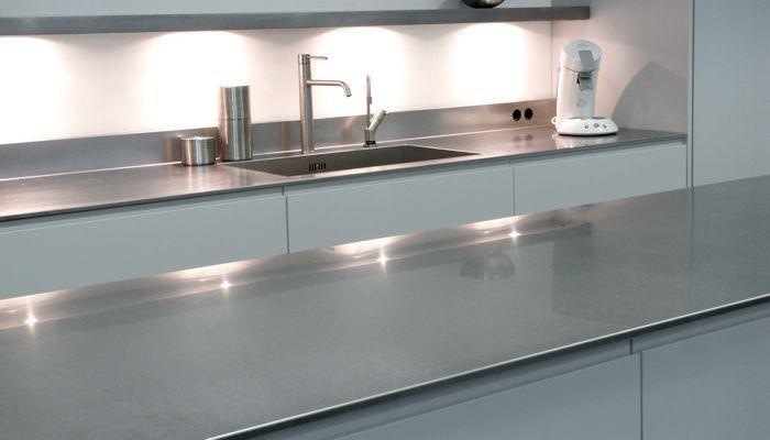 Edelstahl Arbeitsplatte Küchen 12MM ABK InnoVent
