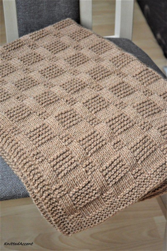 Easy Blanket PATTERN,only in ENGLISH,  written instructions with diagram.