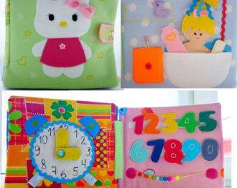 busy book eco friendly quiet book felt book por happymumtoys - Toddler Activity Book