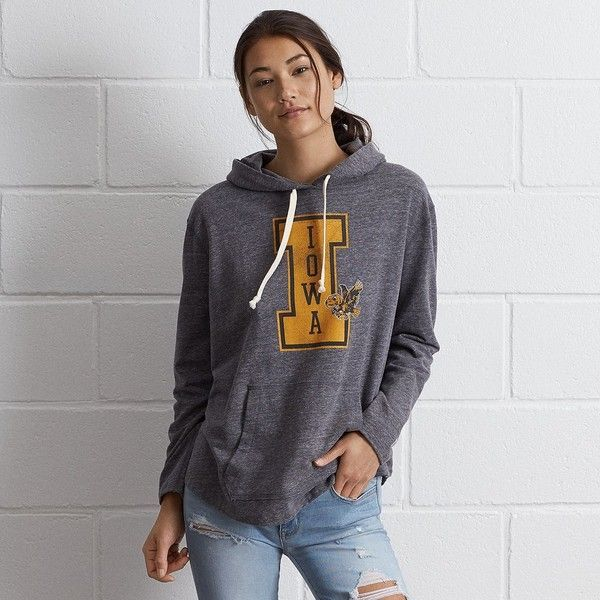 Tailgate Iowa Oversize Hoodie (€63) ❤ liked on Polyvore featuring tops, hoodies, grey, oversized tops, grey hooded sweatshirt, grey hoodie, gray hooded sweatshirt and hooded sweatshirt