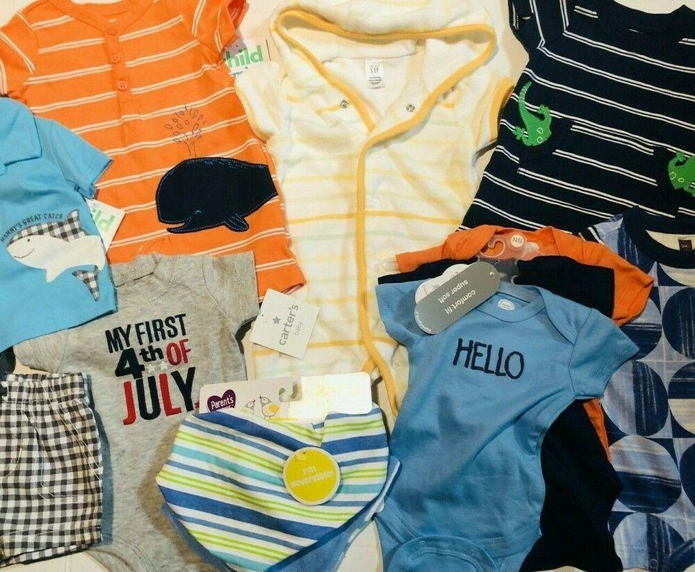 Gerber Baby Boy 3-Pack Organic Cotton Navy Rocket//Stars Bibs NEW!!