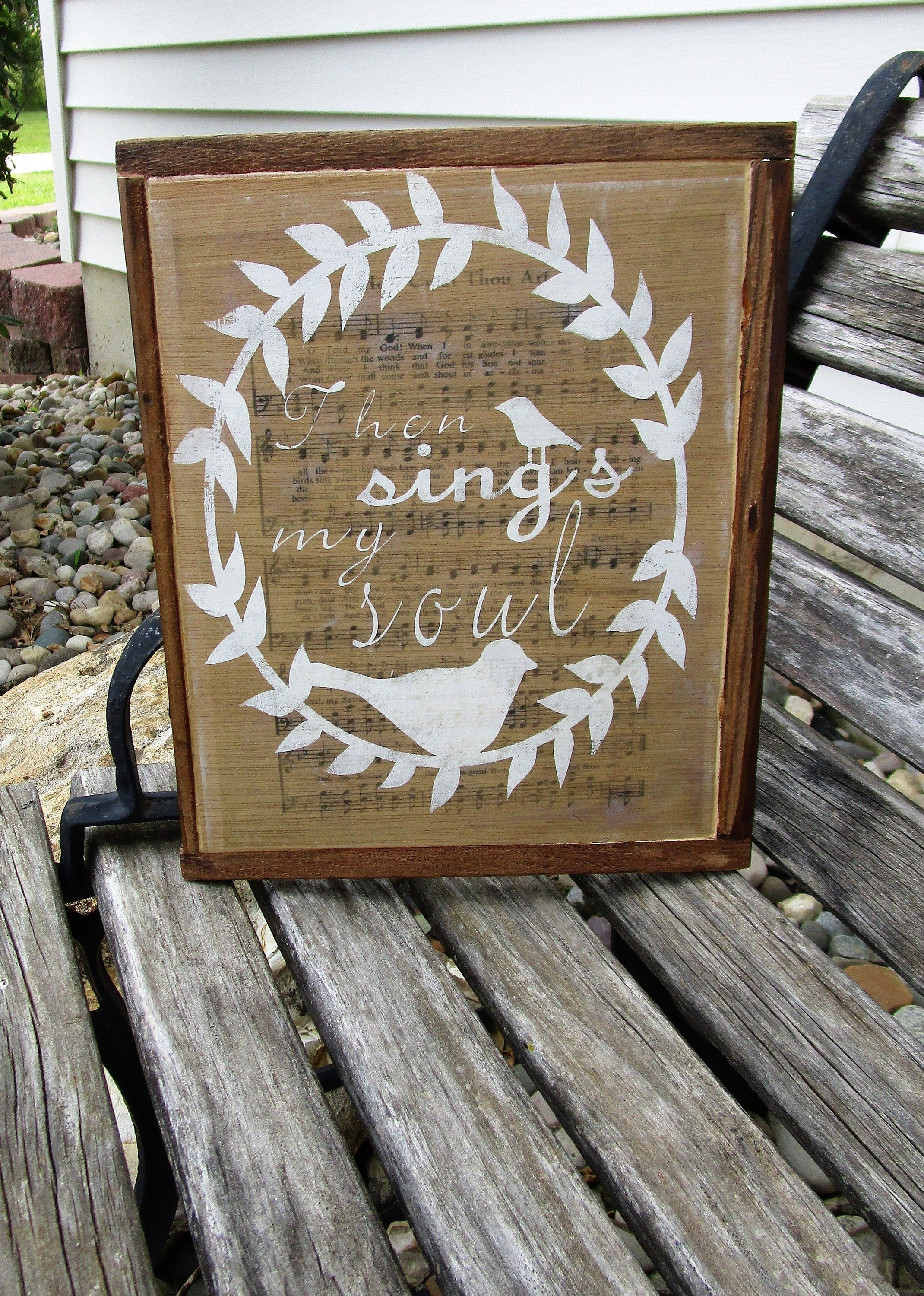 Old Hymn Wall Decor Dove Wall Hanging How Great Thou Art Then
