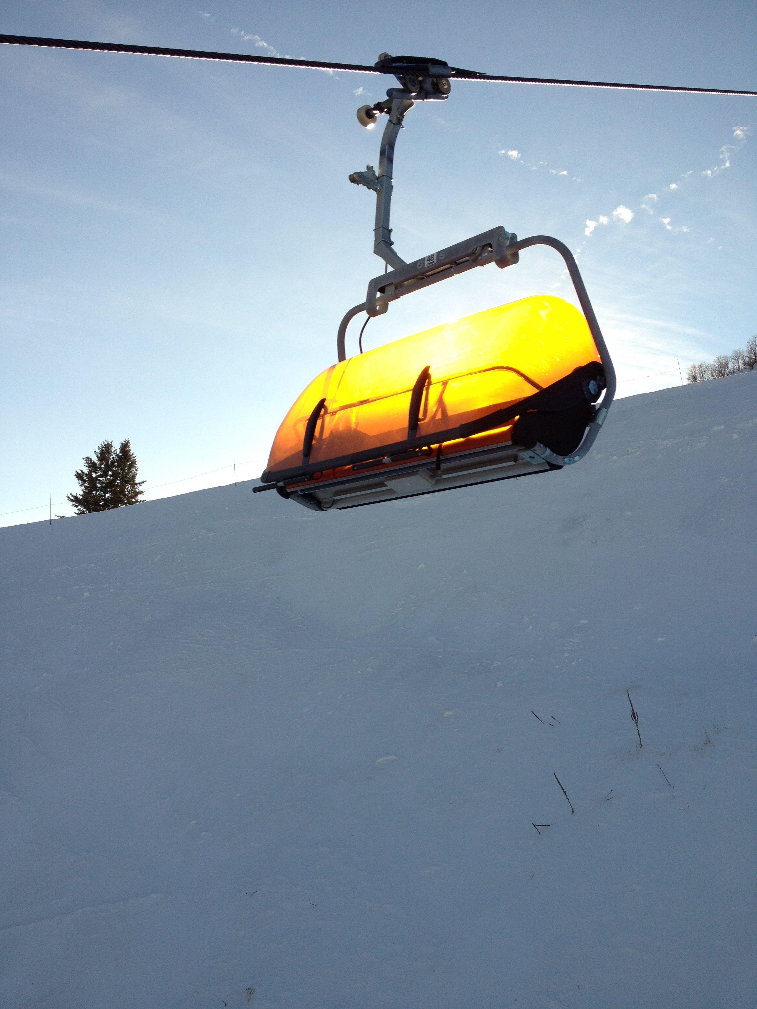 Canyons Ski ResortOrange Bubble photography snow chair
