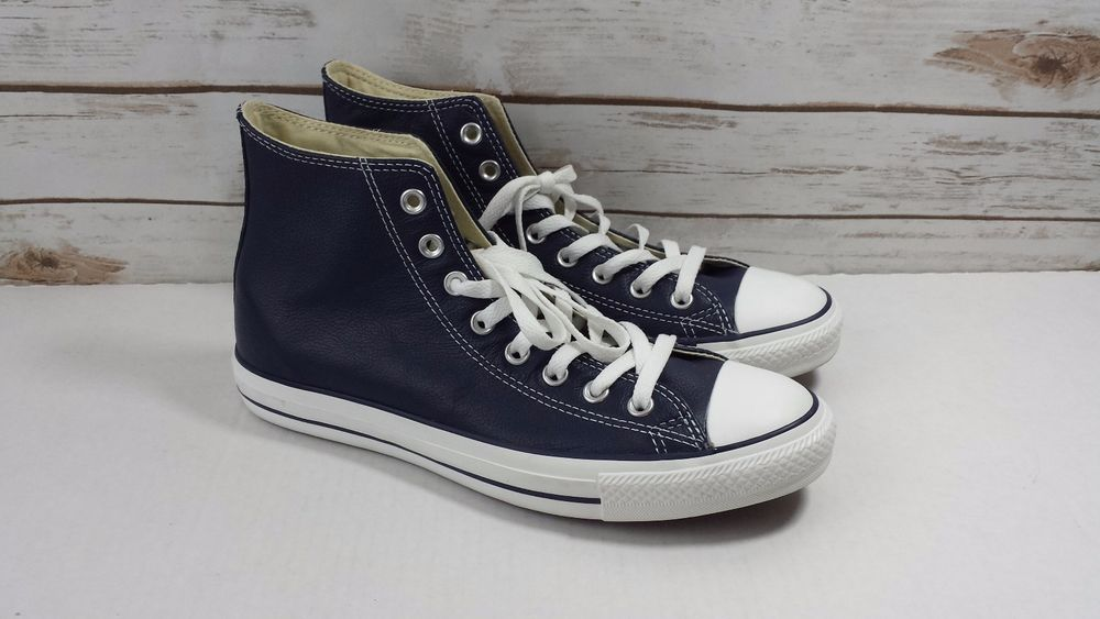 Converse Classic All Star Hi Athletic Navy Leather 135252c Mens US Size 8.5