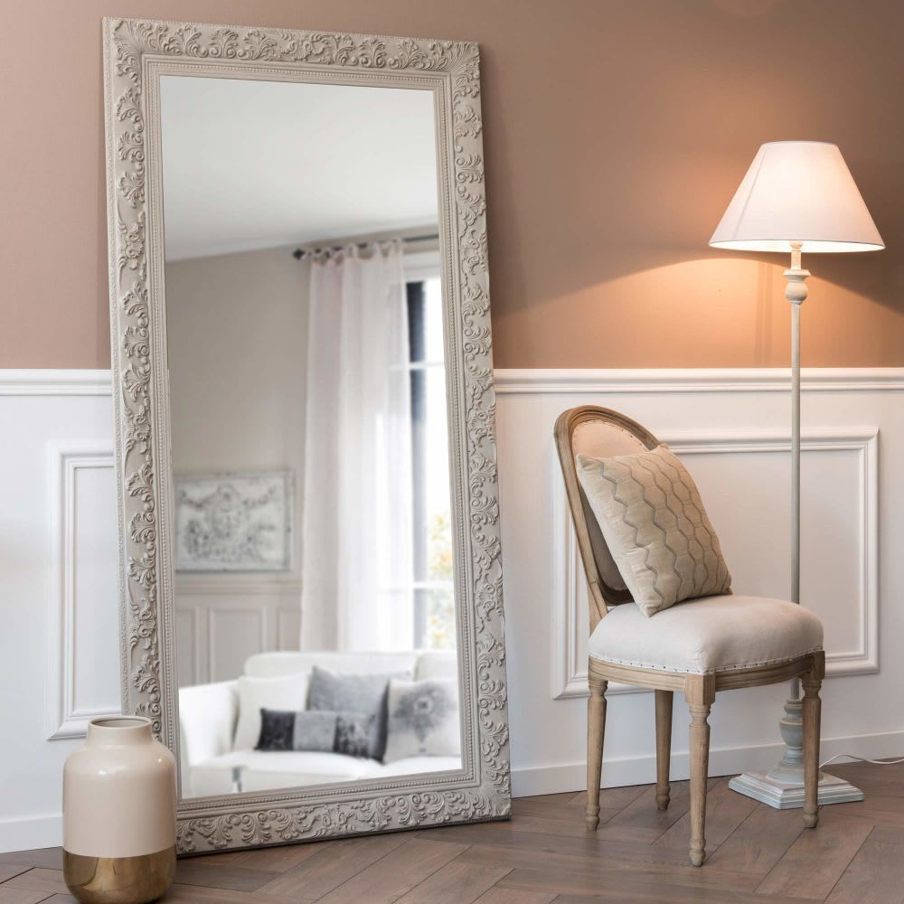Miroir En Paulownia Beige Grise 90x180 Chambre Grise Mobilier De Salon Meuble Salle A Manger